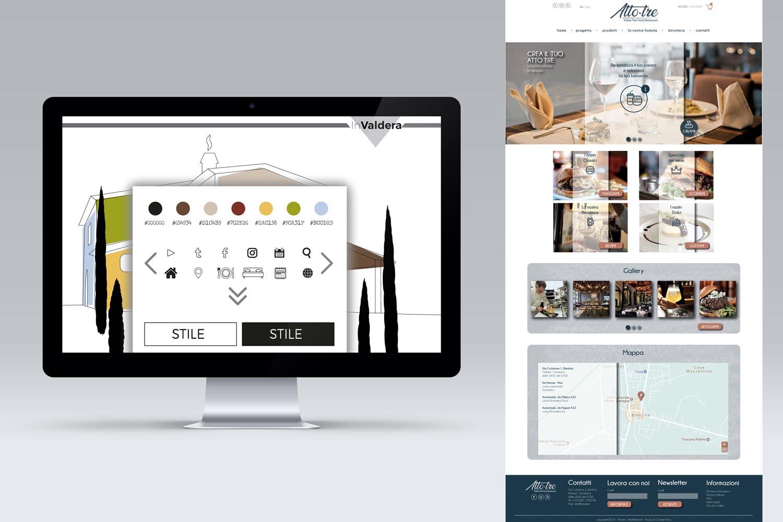 Corso Web & Graphic Design studio template e pantoni
