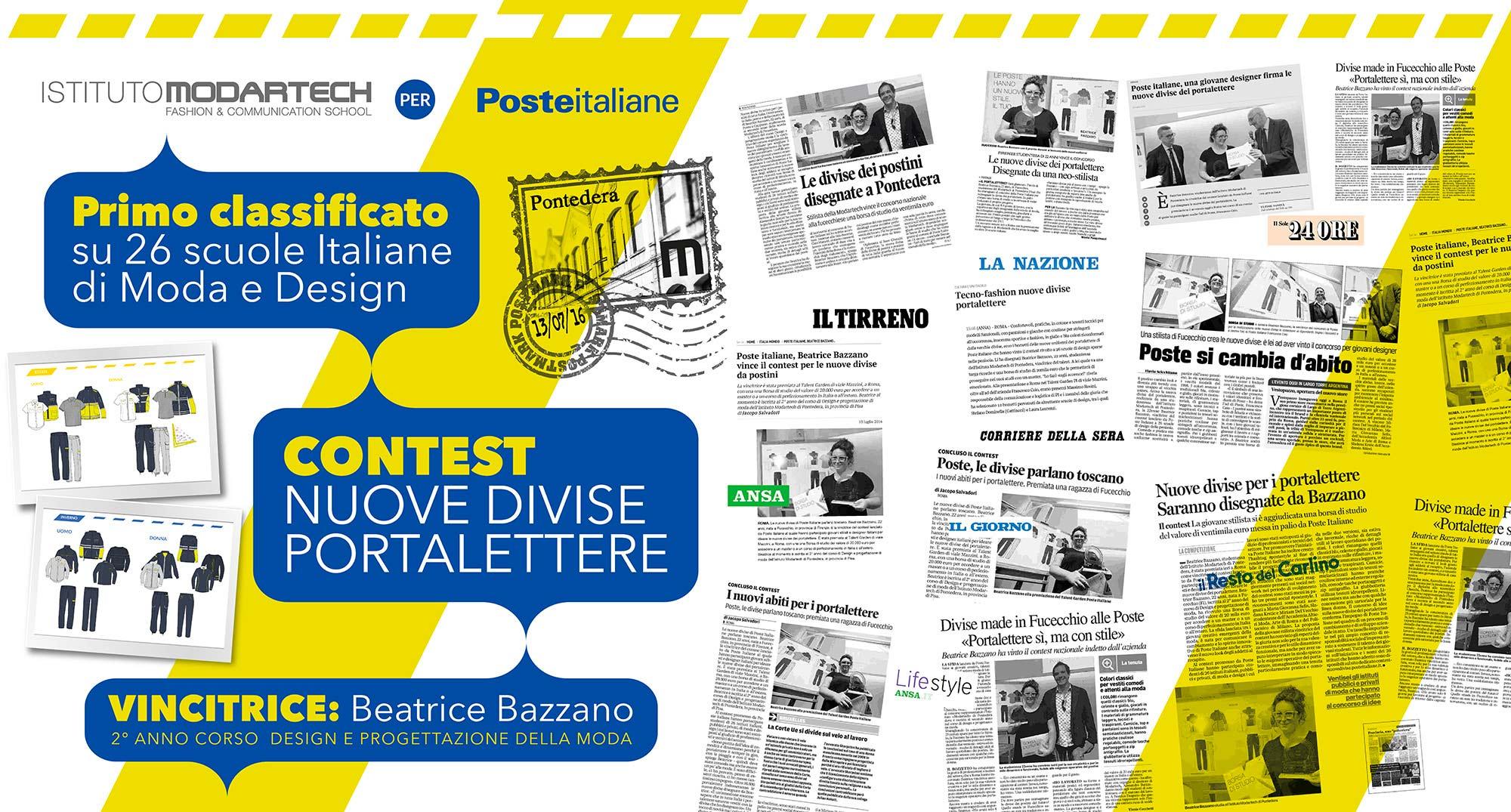 Studentessa modartech vince il contest di poste italiane for Migliori scuole di design