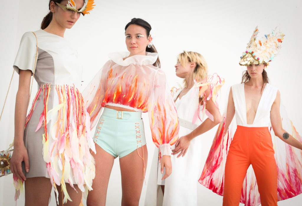 Shooting of the collection created by the Fashion Design course students