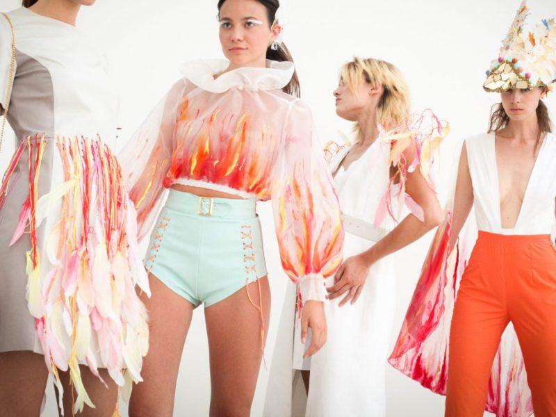 Shooting collezione realizzata dagli studenti del corso Fashion Design
