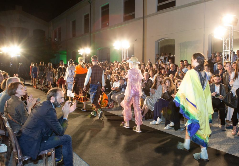 In passerella al Modartech Fashion Show 2019 - Futur Is