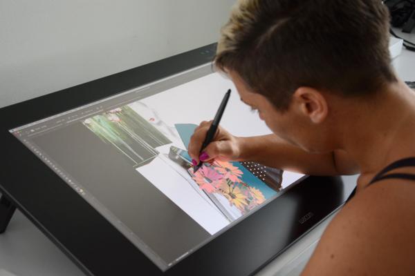 Digital illustration con docente esperta